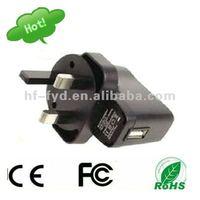 UK EU USA AUS Korean plug 5V 0.5A 500mA AC DC USB Adapter