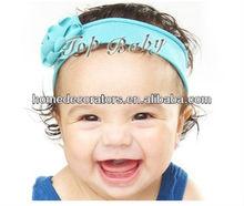 2014 summer Baby Flower solid cotton Headbands baby favorite choice