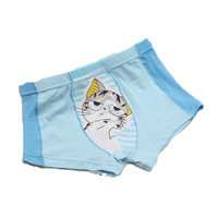 2015 lovely design fashion and comfortable printed lovely cartoon children boxer underwear for girls
