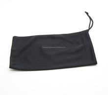 Black Microfiber Pouch Eyeglasses Cleaning Case Bag