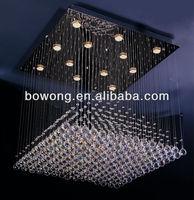 Square modern crystal chandelier Modern LED lamp Hot selling,hotel chandeliers for sale