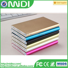 OEM/ODM best selling colorful slim led portable power bank 10000mah from alibaba china for mobile phone
