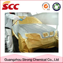 Weather resistant and strong coverage metallic auto paint