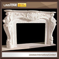 de estilo europeo natural chimenea de mármol blanco