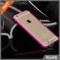 Luxury Crystal Rhinestone Diamond Bling Metal Case Cover Bumper For iPhone 6 plus