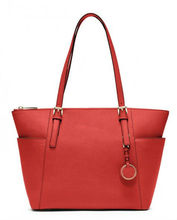 mk saffiano tote bag shopping bag beach bag