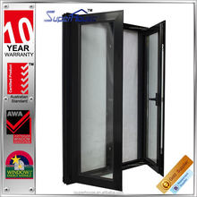 New Designed Thermal break aluminium swing and hinged windows with heat insulation function