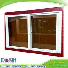 Hot Sale White Color UPVC Two Track Sliding Window with Double Tinted Glass for Household & Office