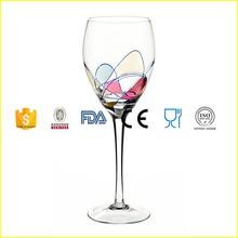 Milano Noir diseño vitral patrón 12 Oz de gran tamaño copa de vino blanco