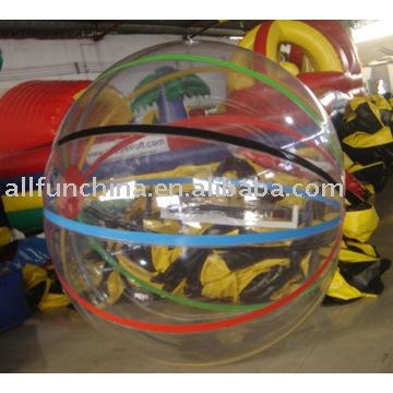 Bola inflable del agua, Agua walker, Bola de rodillo del agua