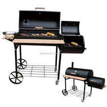 ZD-2917C Trolley Barrel BBQ Grills/2015 Powder plated Tennessee Smoker/hot sale train bbq grill with wheel