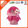 Polar fleece hat scarf and gloves set for kids