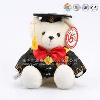 Custom 20-30cm graduation teddy bear with cap and gown