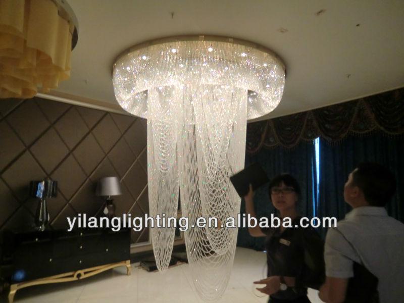 Grandes ara as de cristal para el hotel el hotel l mparas - Lampara de arana moderna ...