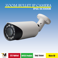Taiwan manufacturer Support ONVIF ProfileS 33x optical zoom Bullet IP Camera
