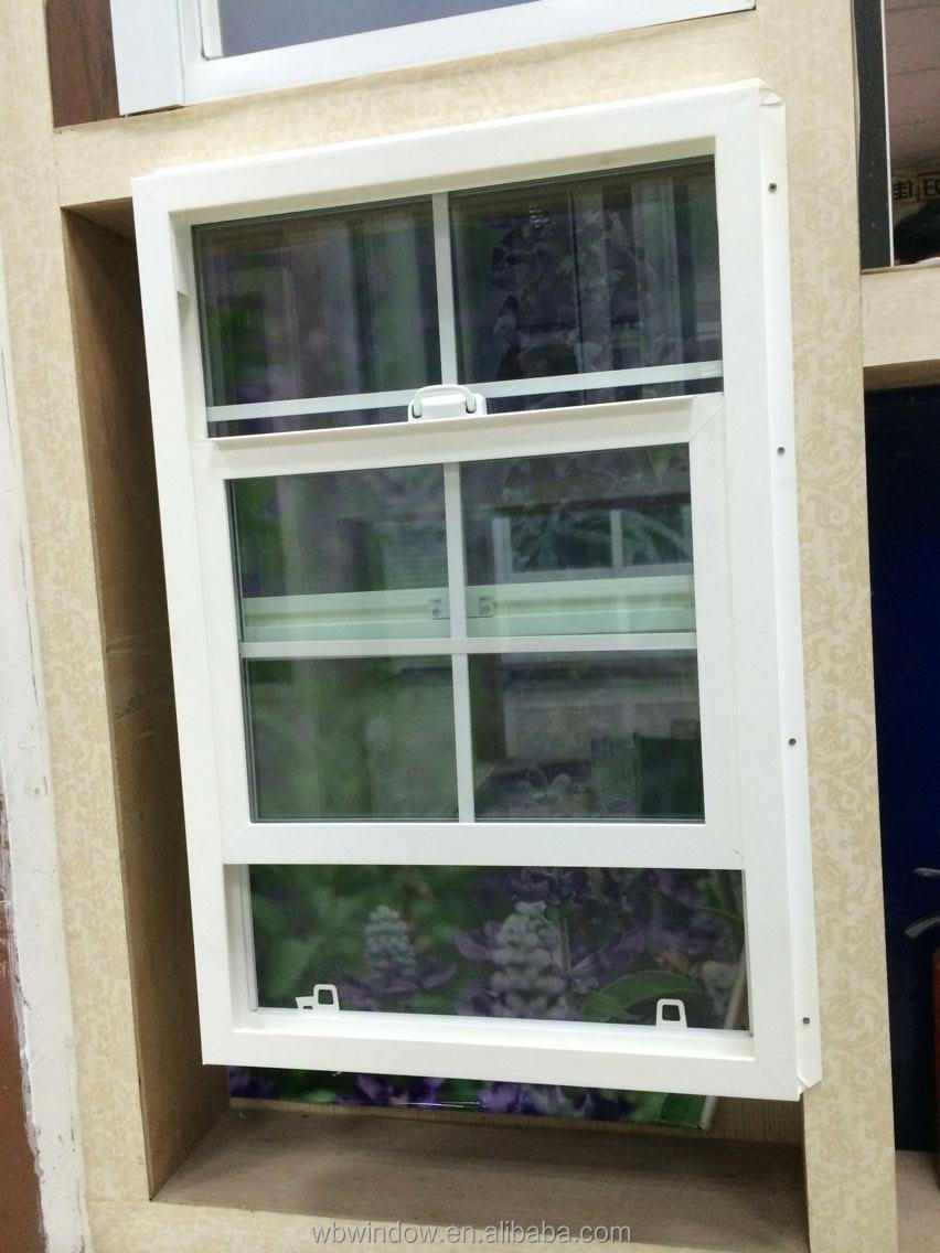 Modern design pvc double hung window grill design for American window design