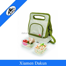 Double Floor Insulated Lunch Tote Cooler Bag with Food Container DK14-1593/Dakun