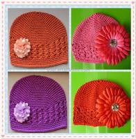 Custom fashionable crochet spring kufi hat, baby girls kufi hat ,baby fancy beanie hats