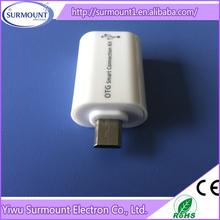 new design Card Reader + USB Connection 2-Port otg connection kit otg mobile card reader