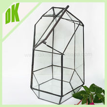 Geometric terrarium clear glass vase for home decoration ++ Fashion popular cheap Gourd-shaped transparent glass bottle