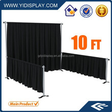 Wall decoration wedding pipe drape with curtain