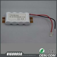 NICD battery 4.8V 1500mAh