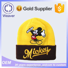 Alibaba Websiet Hot New Products Fashion Yellow Minion 100% Acrylic Beanie Hat / Winter Slouch Knit Beanie Hat in China
