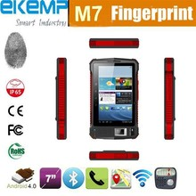 Android Tablet 7 inch touch screen support GPS,3G and barcode scanner/ Tablet PC with fingerprint scanner (EM802)