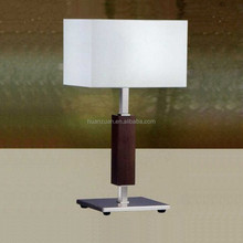 newest black fashion hotel guest room wood harp table lamp