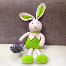 Stuffed 42cm Sitting High Customized Green Bunny/Plush Lovely Bunny Toy/Stuffed Animated Animal Toy Rabbit