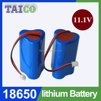 No pollution clean energy 18650 lithium 2600mah battery 11.1v