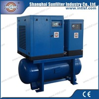 10hp 7.5kw Combined Screw Air Compressor for diesel portable screw air compressor