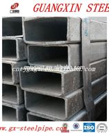 hollow rectangular tube standard sizes galvanized