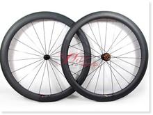 2015 new 50mm 25mm T700 carbon clincher wheels, build with Sapim spokes for bike shop