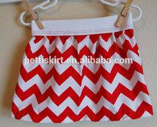 verano 2015 nueva llegada de chevron rojo de algodón faldas las niñas faldas
