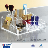 Professional factory HIGH clear multifunctional make up organizer acrylic/makeup material organizer/mac makeup foundation