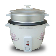 Mechanical automatic drum electric rice cooker with convenient steamer