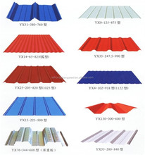 0.3-0.6mm thickness color steel roof tile roofing/galvanized