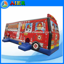 Fire truck car jumping bouncer