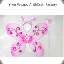 Factory Direct Sale Flower Pattern Baby Angel Wings Craft Supplies Angel Wings Low Price BW-367