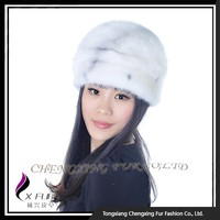 CX-C-183 Fashion Hand Made Mink Fur Hat , One Piece Hat And Scarf
