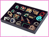 Jewelry tray with many compartments, unique 20 dividers jewelry accessory box with no lid