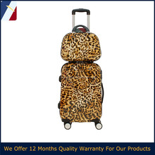 leopard print travel trolley luggage case for USA,japan,Euro market
