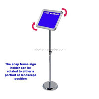 32mm A3 snap frame stand height adjustable menu stand display angle rotated telescopic menu board