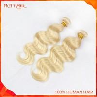 #613 Blond Colore 100% Human Virgin Brazilian Body Wave Hair 24inch 1Pcs /Lot Hair Weave