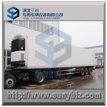 50 m3 tri-axle CARRIER Refrigerated power unit Reefer Van Box Semi Trailer