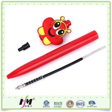 Top Sale soft pvc Plastic pen cheap ball pen