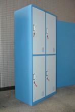 Henan manufacturer metal double color wardrobe design furniture bedroom/locker ikea