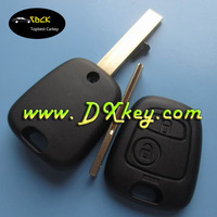 Best price remote key shell for Peugeot 407 car key Peugeot NO LOGO with groove blade