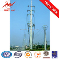 Hot dip galvanized low voltage telecommunication antenna masts for overhead line project
